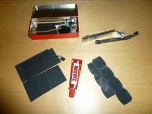 plakspullen, lichter, plakker, solutie, schuurpapiertjes, ventiel, simson